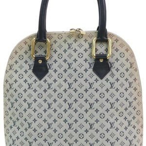 Louis Vuitton  Blue Grey Monogram Mini Lin Alma Ha